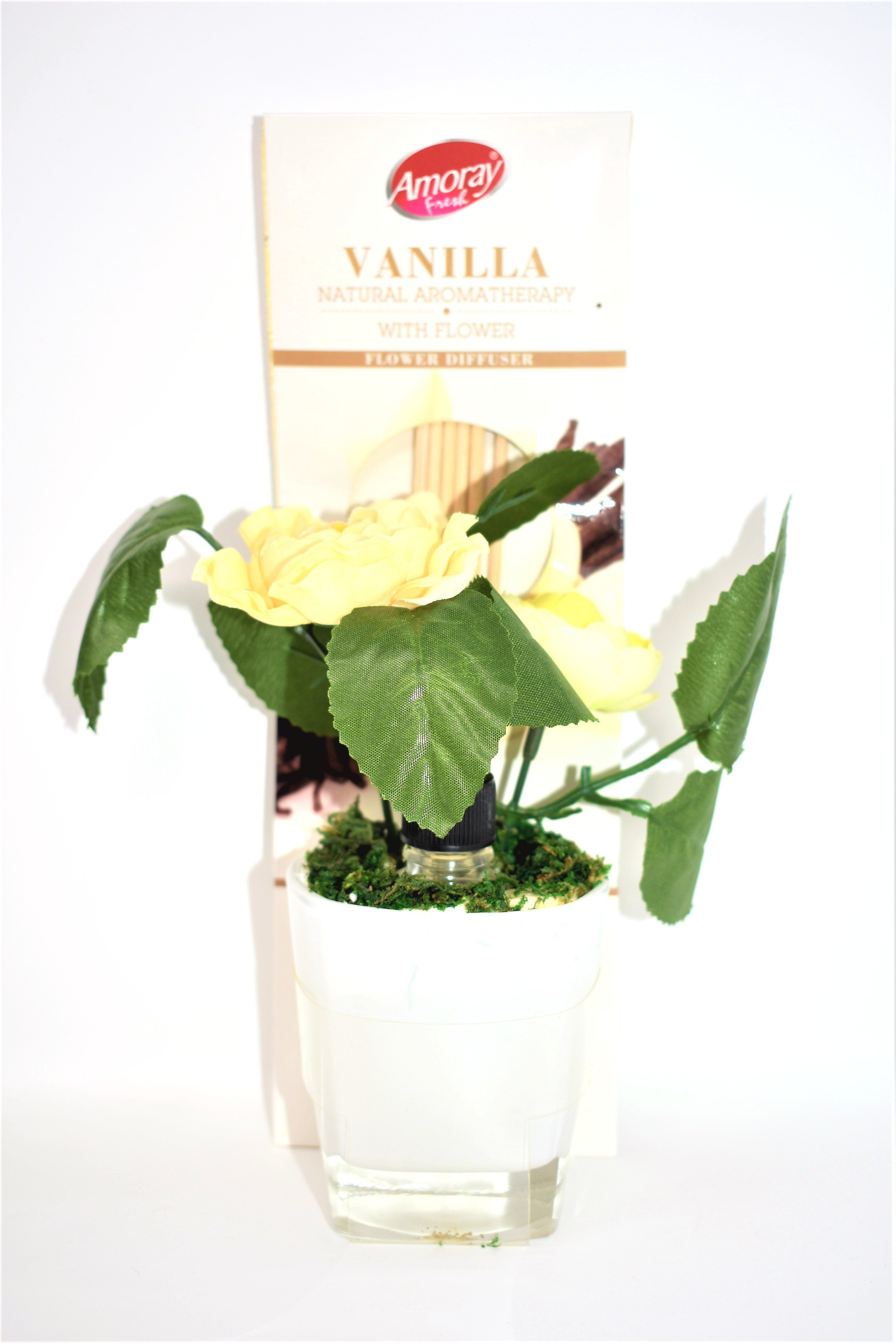 Vanilla Natural Aromatherapy with Flower Diffuser ...