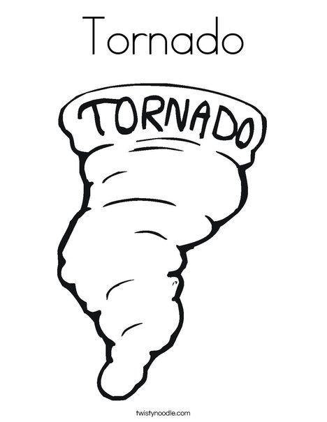 Tornado Coloring Page Coloring Pages Coloring Pages For Kids Tornado Craft