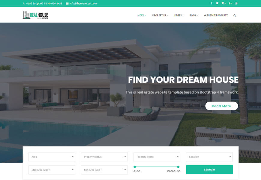 Fully customizable website themes and idx/mls solutions to get your real estate agent website started. Pin On Real Estate Website Html Template