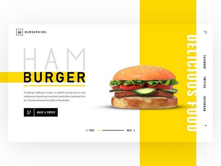 Burger Shop Landing Page Concept Landing Page Cv Resume Template Resume Template