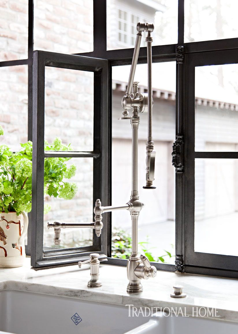 """The adjustable """"Traditional Gantry"""" pull-down faucet with an ..."""