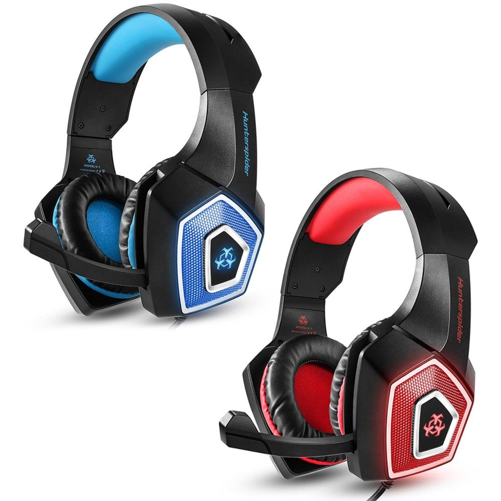 Hunterspider V-1 3 5mm Wired Gaming Headsets Over Ear
