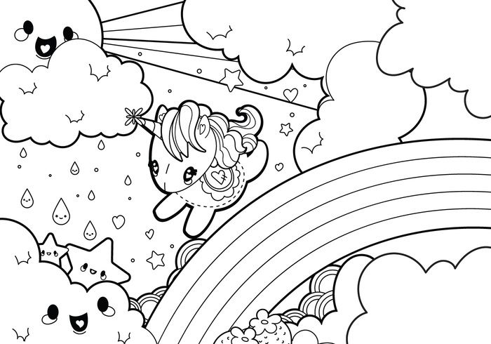 Image result for unicorn with rainbow coloring pages | coloring ...