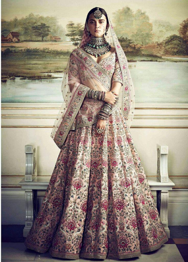 wedding lehanga | Sabyasachi lehenga bridal, Indian bridal ...