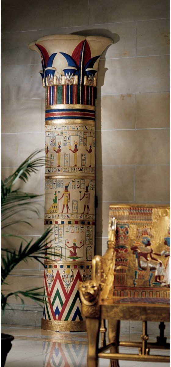 Egyptian Decor Bedroom: Giant Egyptian Columns Of Luxor Sculpture