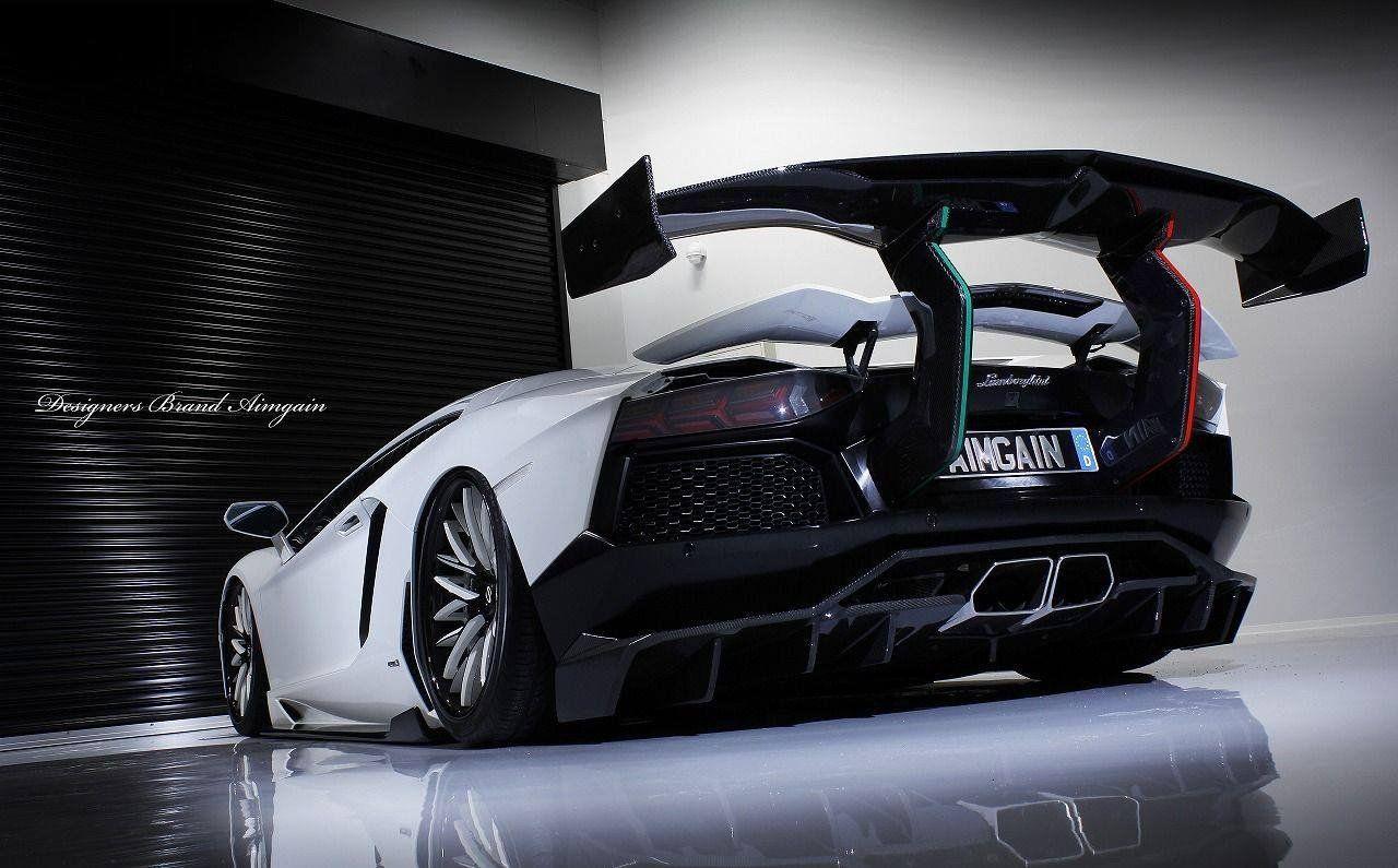 Japanese Tuner Aimgain Reveals Crazy Lamborghini Aventador At Tokyo Carscoops Lamborghini Aventador Super Cars Lamborghini