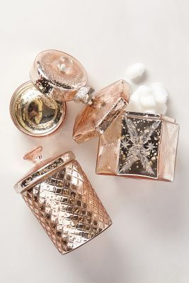 Blushing mercury jar the bathroom rose gold for Rose gold bathroom accessories sets