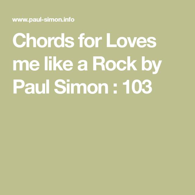 Chords For Loves Me Like A Rock By Paul Simon 103 Ukulele Music