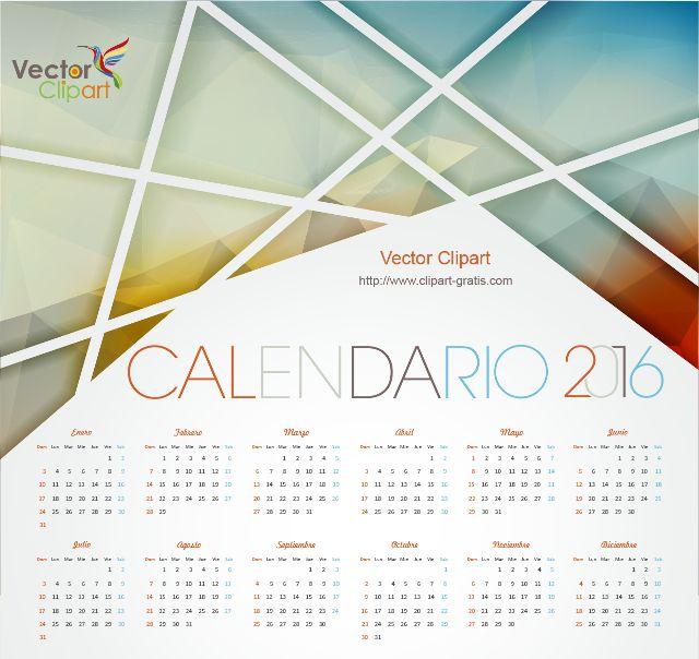 Calendario 2016 para imprimir con dise o abstracto - Disenos de calendarios ...