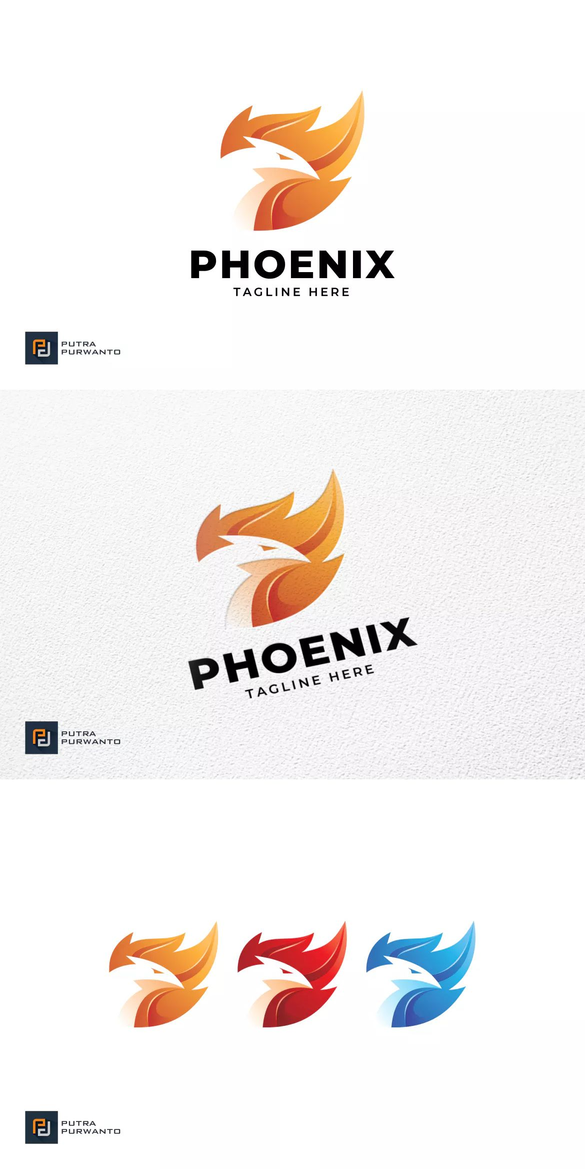 Phoenix Logo Template By Putra Purwanto On Envato Elements Logo Templates Fantasy Logo Golden Ratio Logo Design
