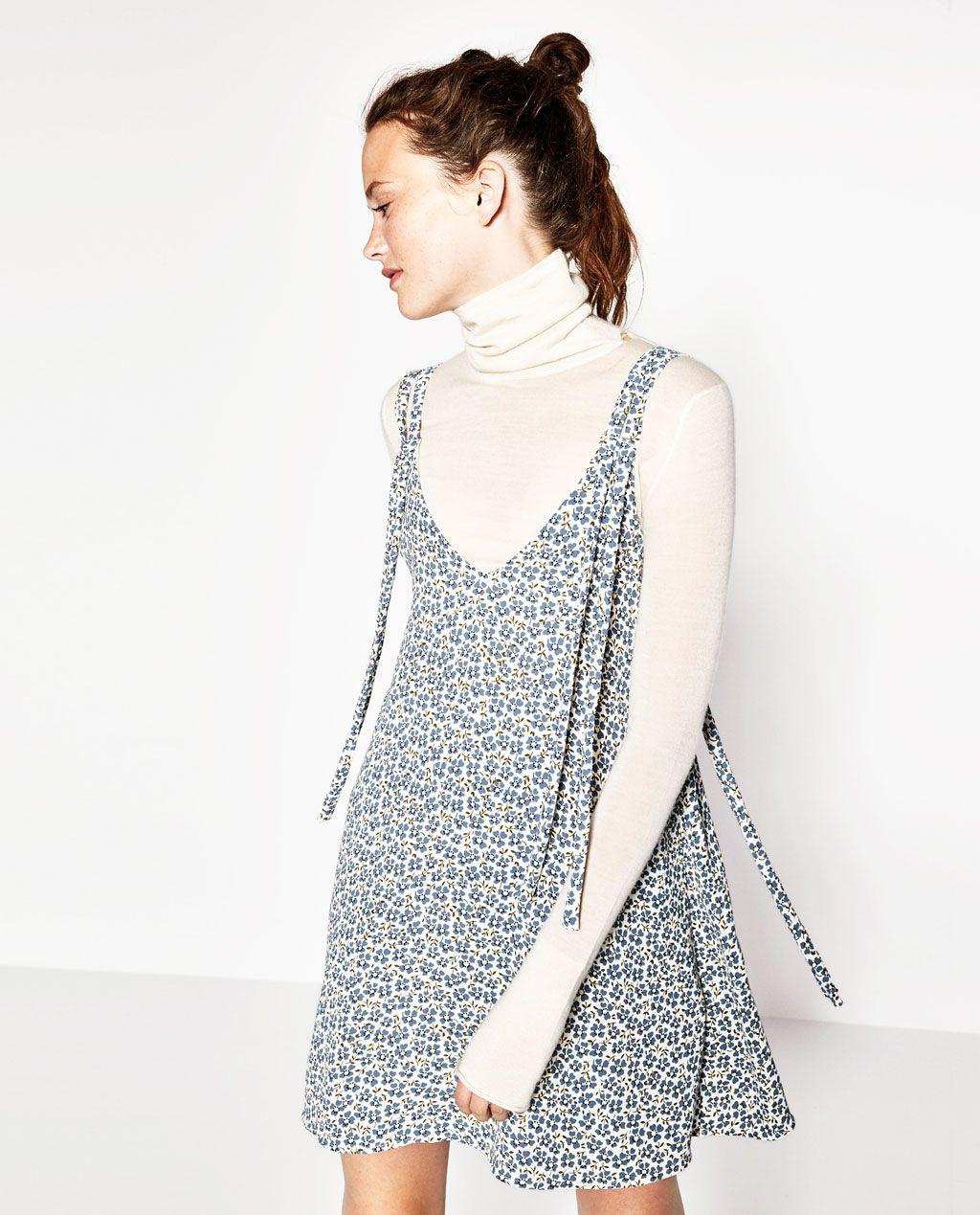 ZARA - WOMAN - DOUBLE STRAP WRAP DRESS
