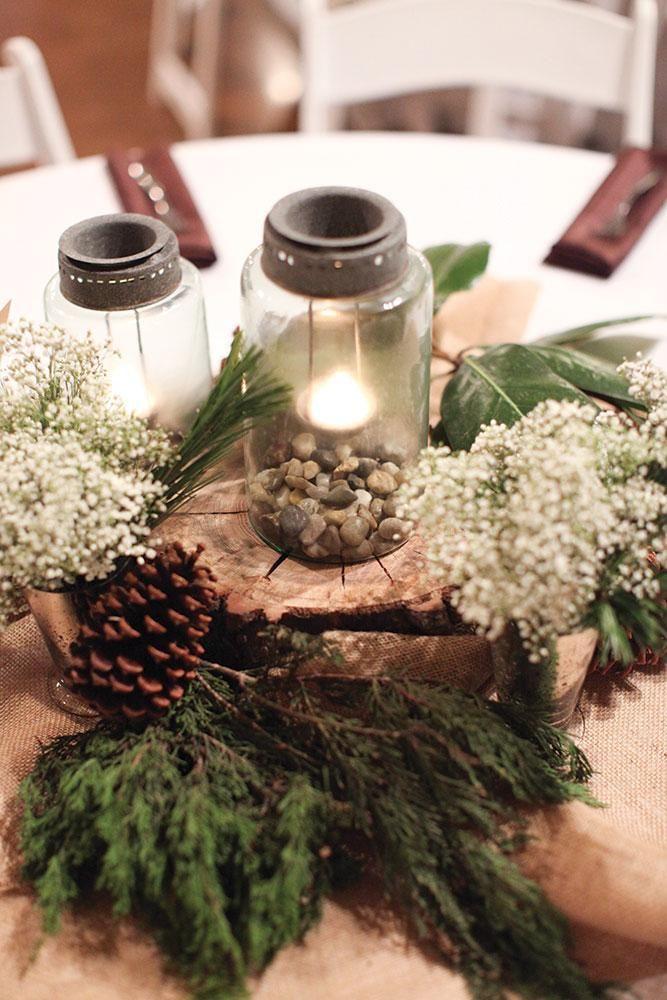 December Wedding Centerpieces Weddingbee Wedding Final