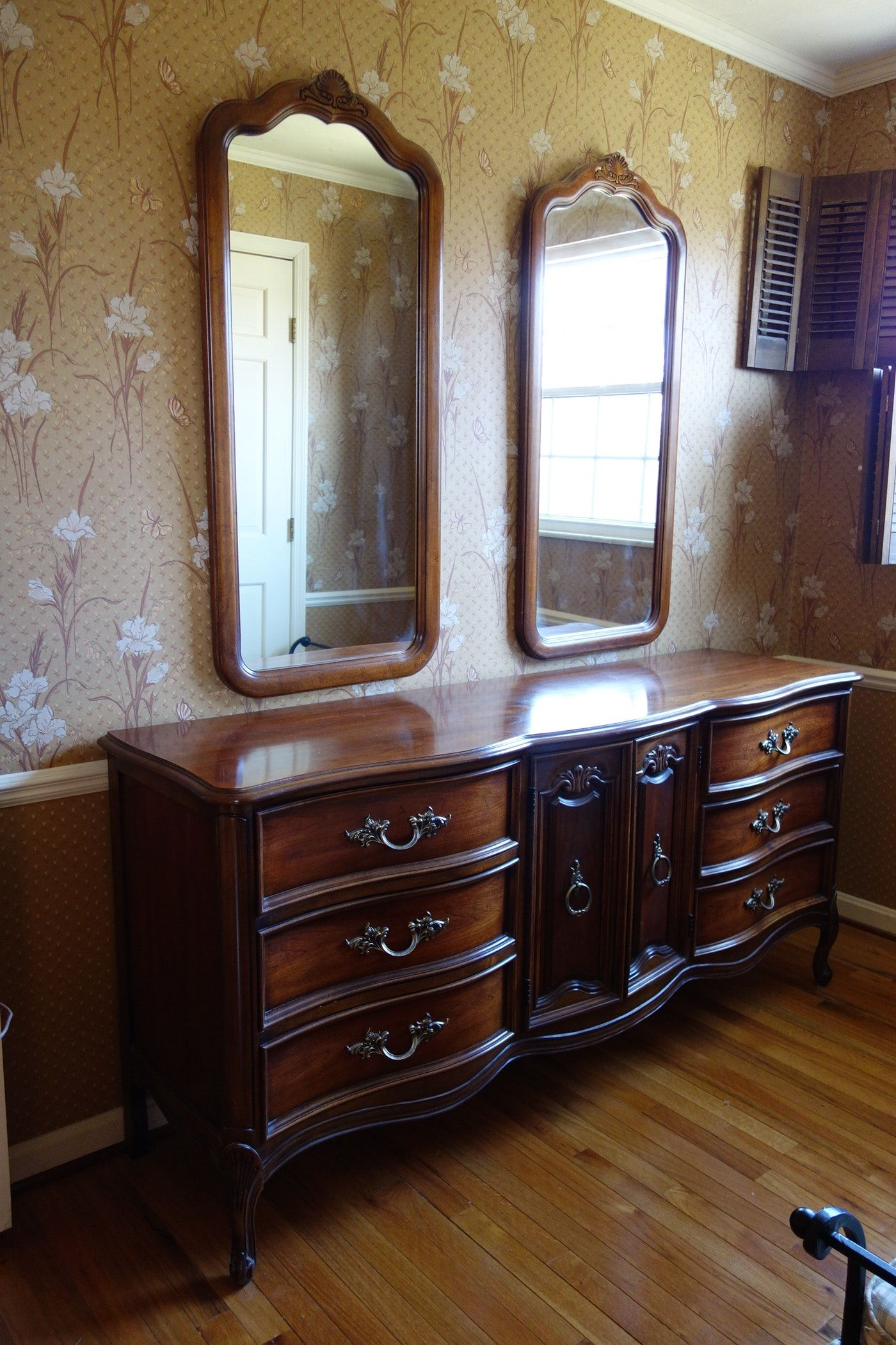 Vintage Dixie Furniture French Provincial Bedroom Set 7 Pieces