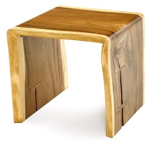 Waterfall Ends Kitchen Bench: Contemporary Rustic Wood Furniture, Live Edge Tables