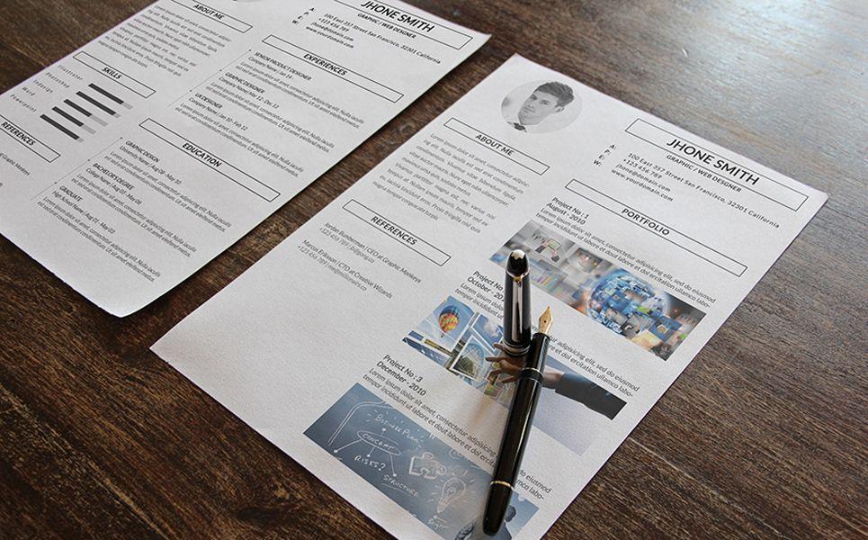 Graphic web designer resume template 67860 web
