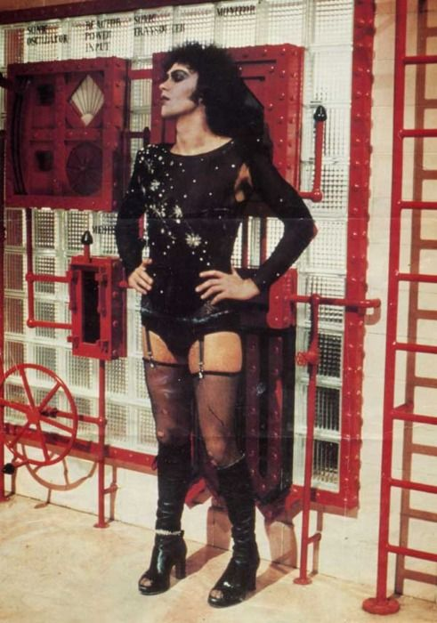 cab956079df76 Rocky Horror. No one loved thigh highs and garters as much as Frank-N-Furter.  (Costume designer Sue Blane)