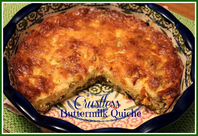 Sweet Tea And Cornbread Crustless Buttermilk Quiche Breakfast Brunch Recipes Food Quiche