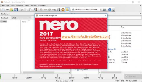 nero 2016 keys