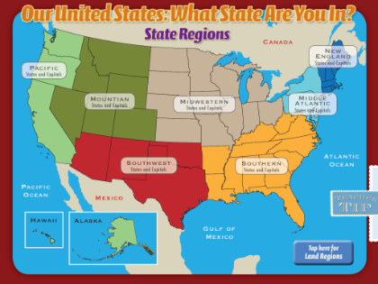 Us Land Regions Map SMART Exchange   USA   Regions of the United States (Standard