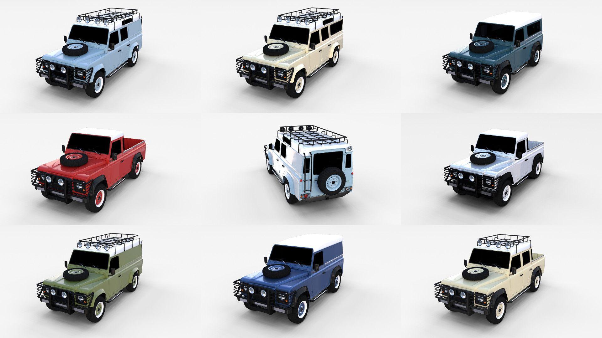 Land rover defender expedition 3d model 3d models pinterest land rover defender and land rovers