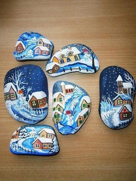 Winter Rock Painting Ideas, Budget Friendly Christ