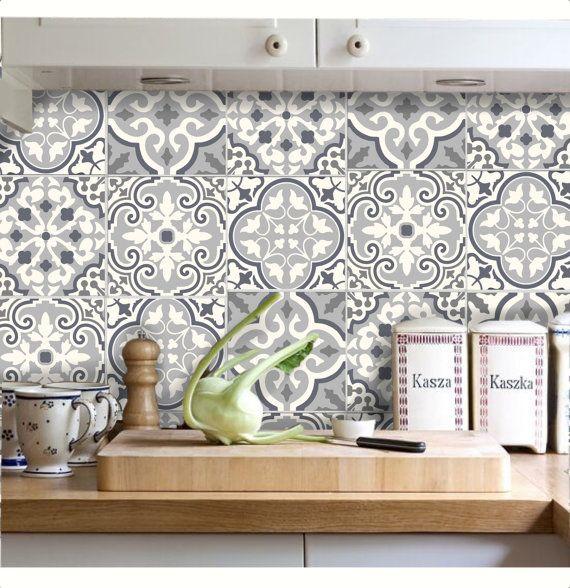Tile Stickers - Decal for Kitchen/Bathroom Back splash/Floor ...