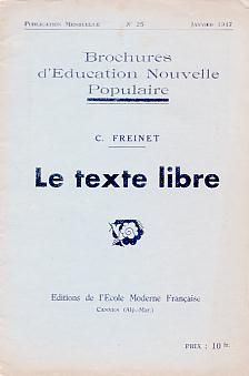 Afbeeldingsresultaat voor texte libre freinet