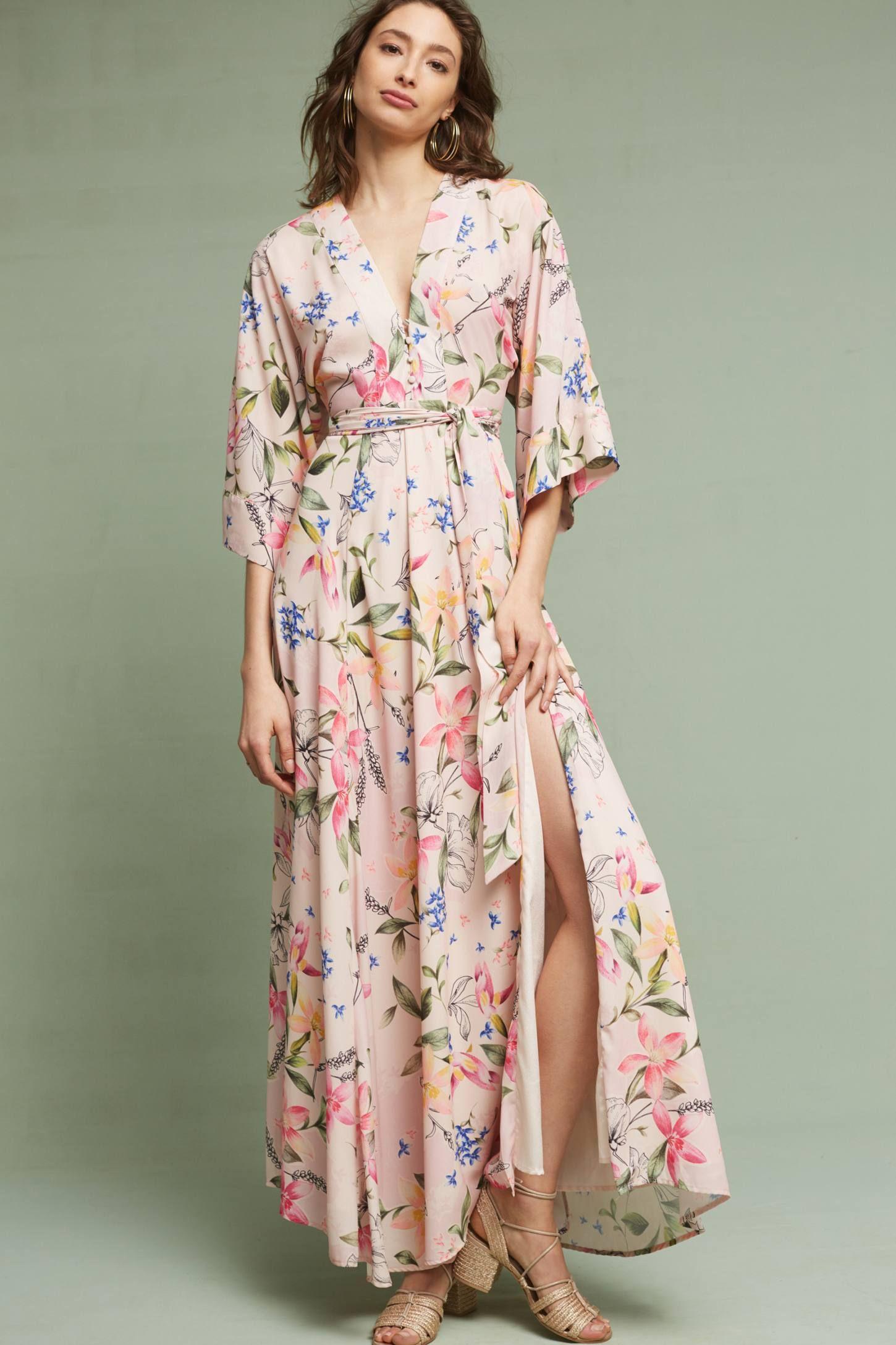 bbdd61a1596 Slide View  4  Floral Kimono Maxi Dress