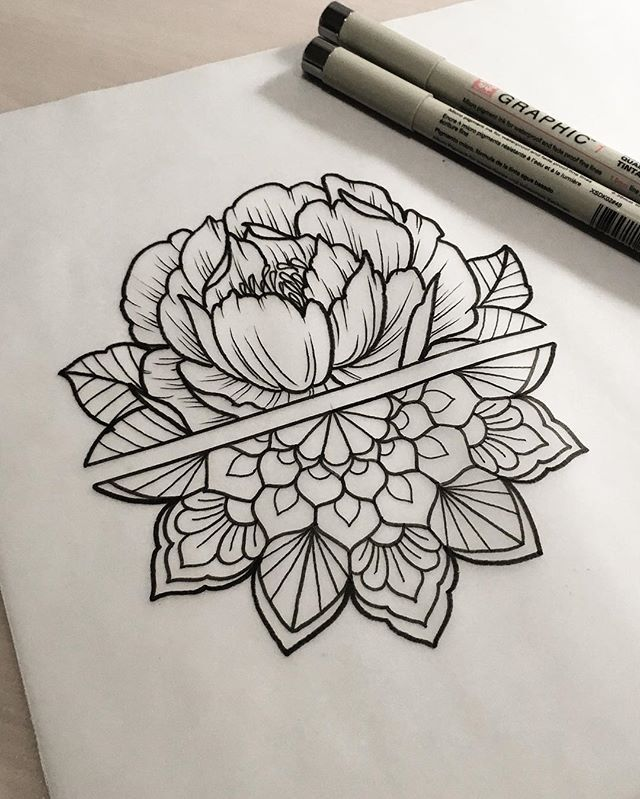 Use this concept for forearms- flower for wedding anniversary month on left, mandala for Us/home on right