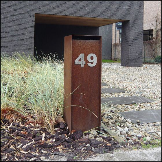 brievenbus on pinterest modern mailbox letter boxes and - Modern Mailboxes