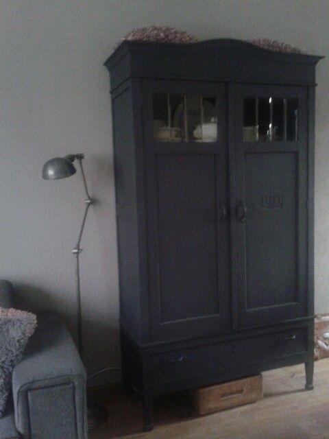 oude kast geverfd met krijtverf my interior livingroom