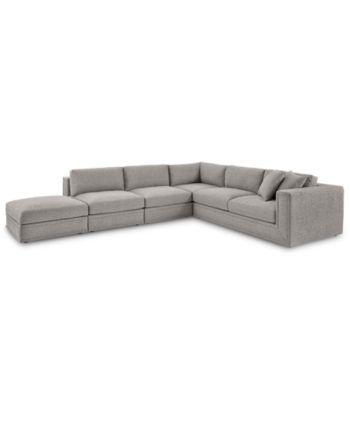 Furniture Closeout Dulovo 5 Pc Fabric Sectional Sofa Created
