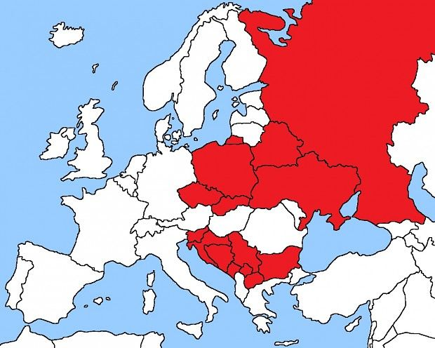 Map of slavic countries strange how they are separated by romania map of slavic countries strange how they are separated by romania etc gumiabroncs Image collections