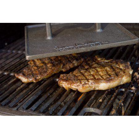 Steven Raichlen Best of Barbecue Cast Iron Double Wide 9-Inch Grill Press Multi-Colored