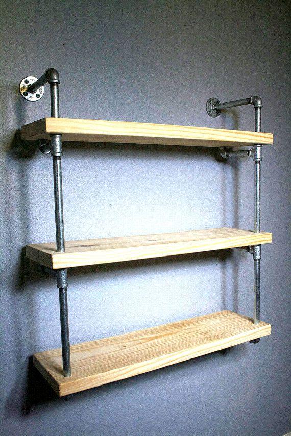 Bathroom Shelf - Pipe Shelves - Industrial furniture - Bathroom ...