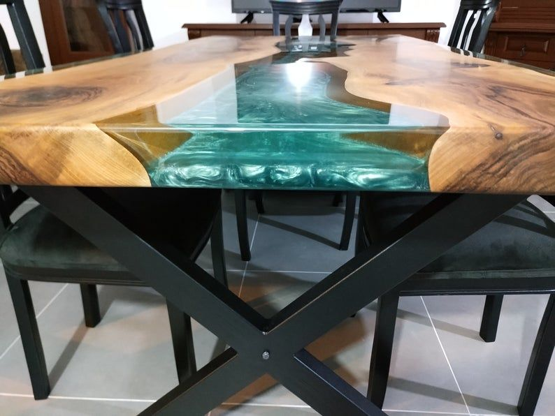 Epoxy Table Epoxy Resin Table Dinner Table Office Decor Resin