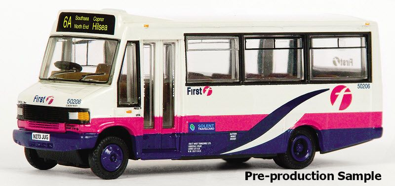 EFE 24820 Plaxton Minibus Company First Hampshire Route 6A to Hilsea Registration N273 JUG Fleet Number 50206