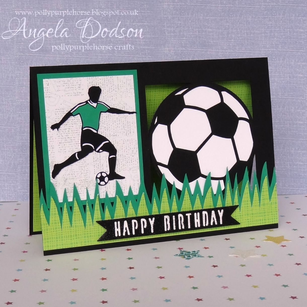 Make A Football Themed Birthday Card Cards School Volunteers Birthday Cards Masculine Birthday Cards Slider Cards