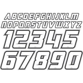 Factory Effex Jersey Iron On Id Kit Lettering Fonts Lettering