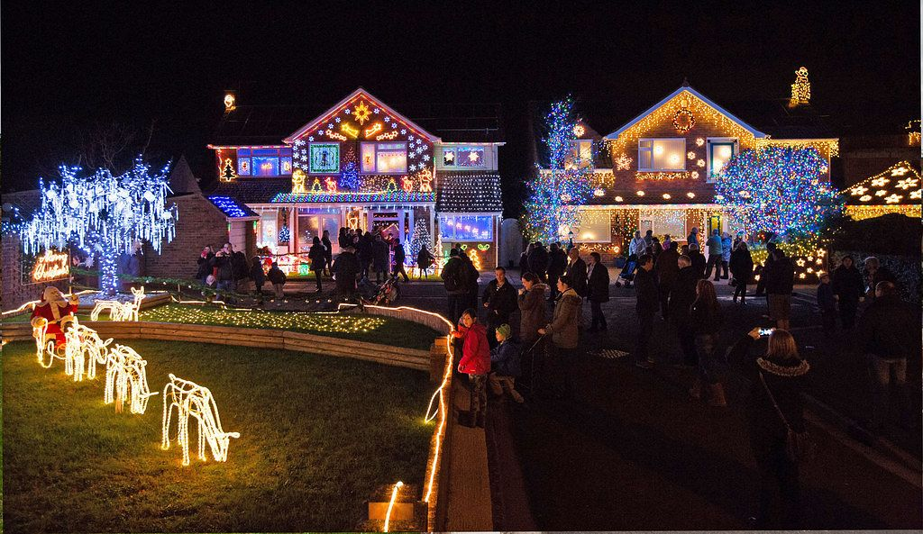 As One Of The Brightest Streets In The Uk It Draws Thousands Of Visitors Who Flock From Around The Country To See The Display Which Helps The Residents Raise Christmas