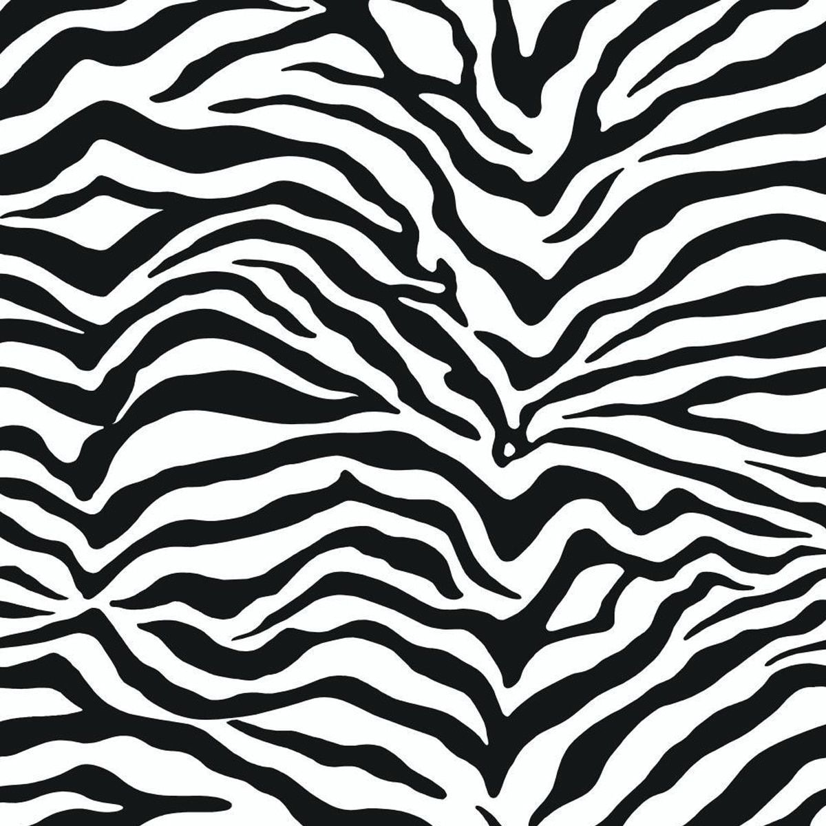 Zebra patterned wallpaper - Bring Out The Wild Side Of Your Decor With This Zebra Patterned Wallpaper Created