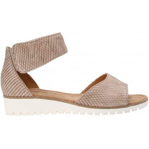 Gabor Penny Leather Flat Sandal with Velcro Strap  1e76b2d653