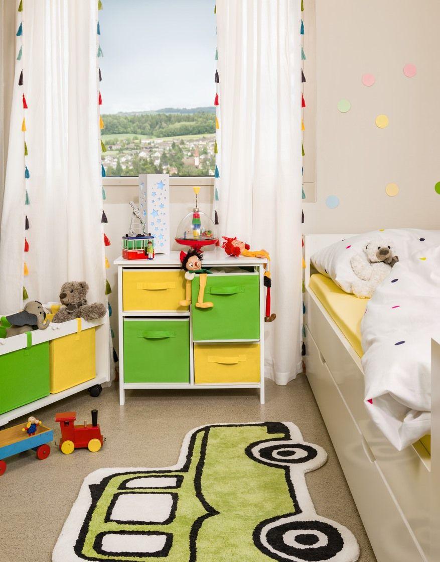 Micasa Kinderzimmer mit Kinderregal MIOS und Spielboxen
