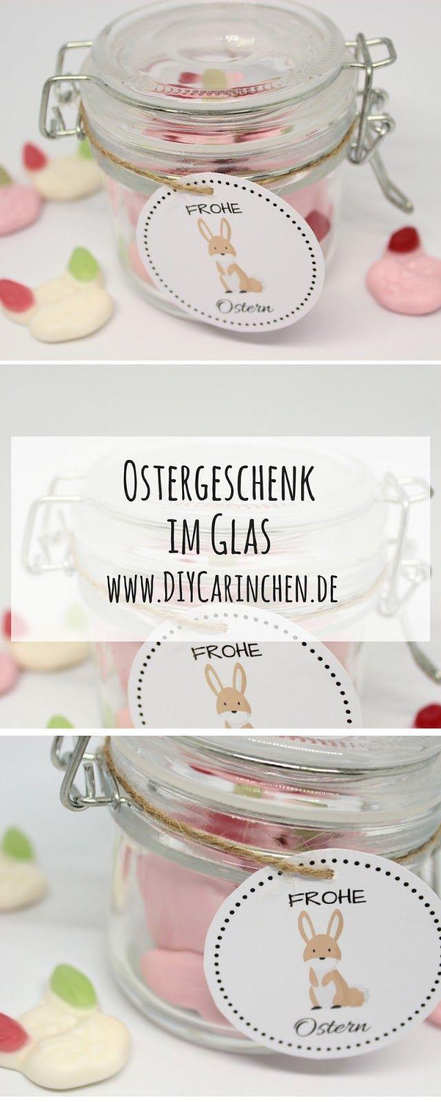 diy ostergeschenk im glas mit s en hasen kostenlose vorlage diy geschenke pinterest. Black Bedroom Furniture Sets. Home Design Ideas