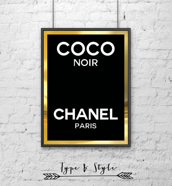 Coco Chanel Perfume Logo Framed Poster Framed Digital Art