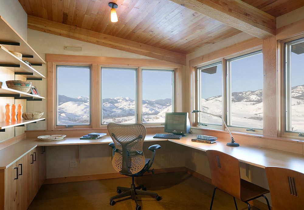 Reaching New Heights Spectacular Home Offices With Mountain Views