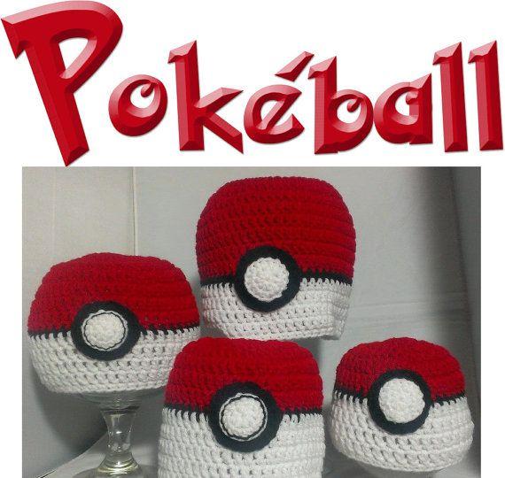 Pokeball Pokemon Inspired Crochet Beanie Earflap Hat por AweStitch ...