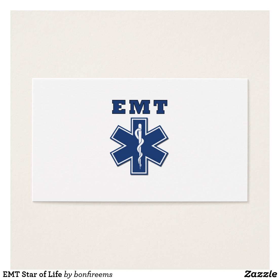 Emt star of life business card firefighter and business cards business cards emt star of life colourmoves