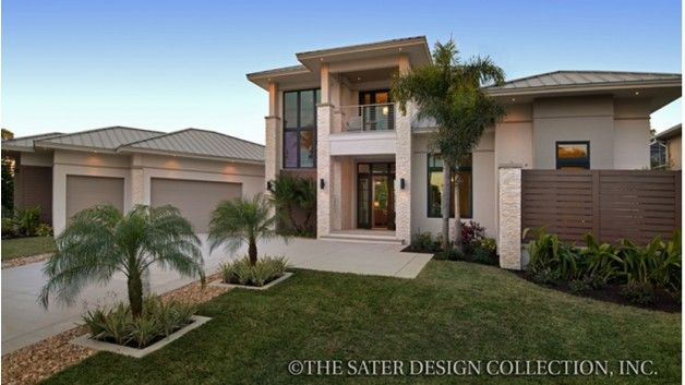 3 Bedroom Modern House Design Endearing Home Plan Homepw76860  3507 Square Foot 3 Bedroom 4 Bathroom Design Ideas