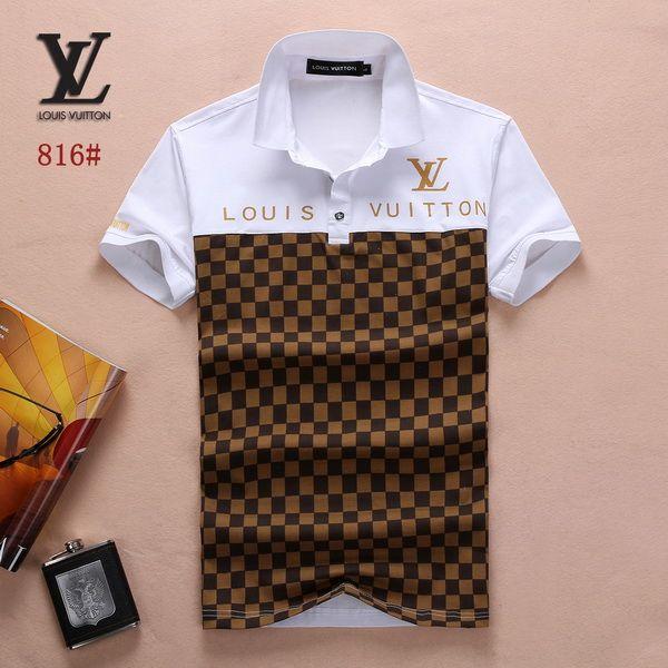 Louis Vuitton POLO shirts men-LV61813A Louis Vuitton T Shirt a3a3827a64c